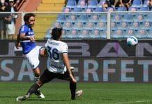gol Augello, Sampdoria-Inter