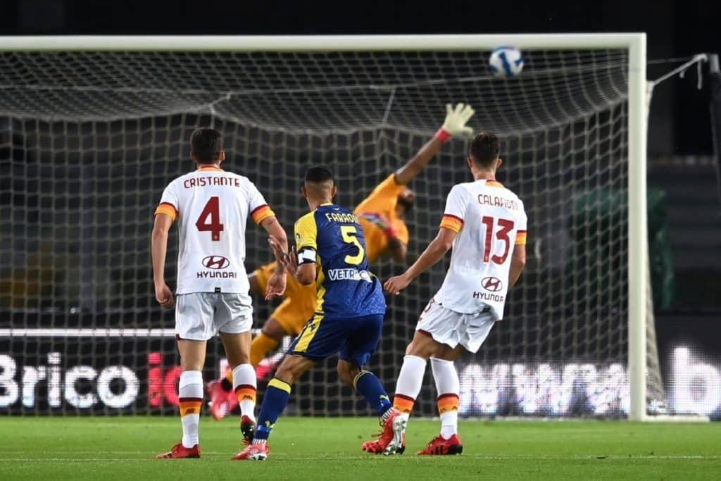 gol Davide Faraoni, Verona-Roma