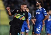 esultanza gol D'Ambrosio, Empoli-Inter