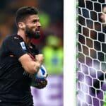 esultanza gol Olivier Giroud, Milan-Verona